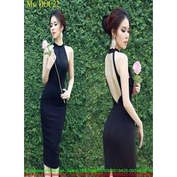Đầm ôm kiểu cổ yếm hơ lưng xinh đẹp thời trang DOC22