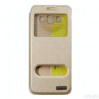 Bao da Samsung Galaxy A3 hiệu Oskar mẩu Light - Màu vàng gold