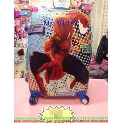 Va li kéo du lịch nhựa hình người nhện mạnh mẽ VL186