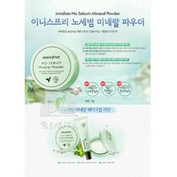 Phấn nén cho da dầu No Sebum Mineral Pact Innisfree