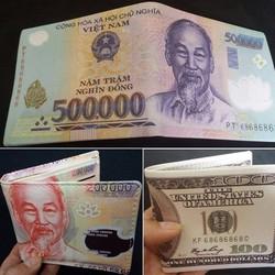 Bóp ví hình tiền