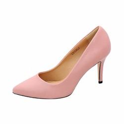 Giày nữ cao gót 9cm da tổng hợp cao cấp ELMI màu hồng nhạt ESW13