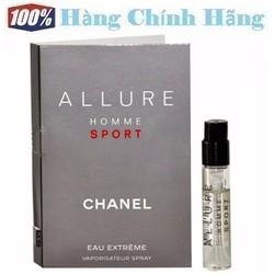 Nước hoa nam vial sample Allure Homme Sport Eau Extrême CHANEL EDP 2ml