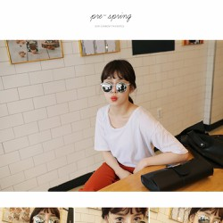 Kính mát Hàn Quốc thời trang gọng tròn