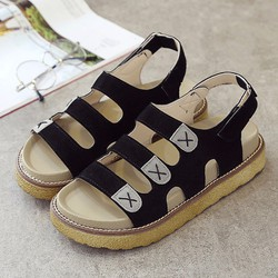 Giày Sandal nữ đế bánh mì quai ngang thời trang Hàn Quốc - SG0294