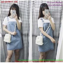 Váy yếm jean phong cách đơn giản nữ tính QYB117