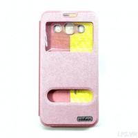 Bao da Samsung Galaxy A5-A5 Duos hiệu Oskar mẩu Light-Màu hồng nhạt
