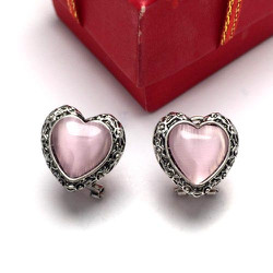 Hoa tai trái tim hồng xinh iu