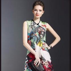 Đầm suông họa tiết cách điệu DS602