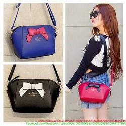 Túi đeo chéo Hàn Quốc đính nơ cực dễ thương cho bạn gái nTDE6