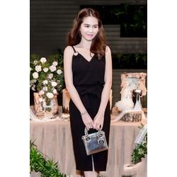 Set Áo Và Chân Váy Xẻ Thắt Nơ Dễ Thương Như Ngọc Trinh S271