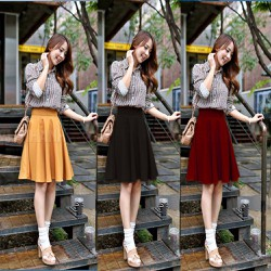 Chân Váy Xòe Vintage Thời Trang - V03915090