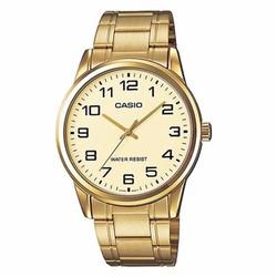 Đồng hồ nam Casio chính hãng dây vàng V001G