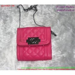 Túi đeo đi tiệc sắc hồng nữ tính đáng iu TDE22