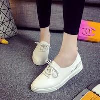 Giày Oxford nữ viền chữ thời trang cao cấp - LN327