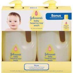Bộ 2 sữa tắm gội toàn thân Johnson Baby Head To Toe 2*1lit Mỹ