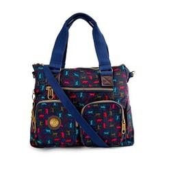 Túi xách hai hộp Kipling khỉ xịn màu xanh đen