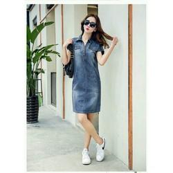 Đầm denim phom suông Kakari thời trang