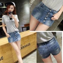 Quần short Jean nữ, thiết kế giả váy năng động,trẻ trung-Q364