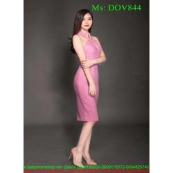 Đầm body thiết kế cổ yếm xinh đẹp và thời trang DOV844