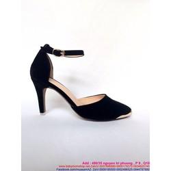 Giày cao gót mũi nhọn khoét bên sành điệu quay hậu sang trọng GCN230