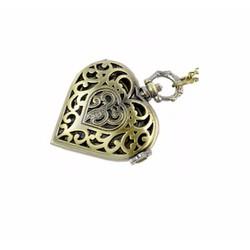 Đồng hồ đeo cổ mặt trái tim màu đồng