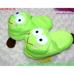 Dép thú bông mang trong nhà cho bé hình chú ếch đáng iu DBA2