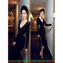 Đầm body dự tiệc cổ tim khoét eo sành điệu thời trang DOC59