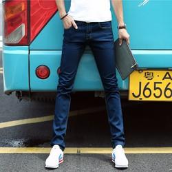 Quần jeans ống côn skinny xanh cổ vịt