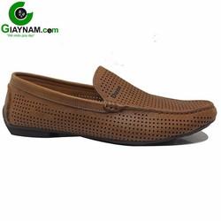 Giày mọi lỗ nam màu nâu mùa hè 2016 hot nhất mã GM2805N