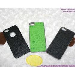Ốp Iphone 5 ghép da họa tiết hình dễ thương OP71