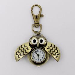 Móc khóa đồng hồ hình cú