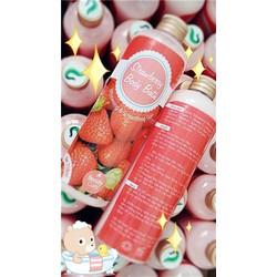 Sữa tắm TRẮNG DA dâu tây bạc hà strawberry body bath 2 in 1