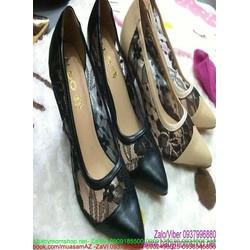 Giày cao gót nữ mũi nhọn ALDO phối lưới sành điệu cá tính GCN262