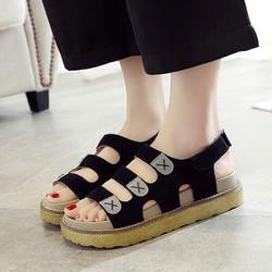 Giày Sandal nữ đế bánh mì quai ngang thời trang Hàn Quốc - XS0301