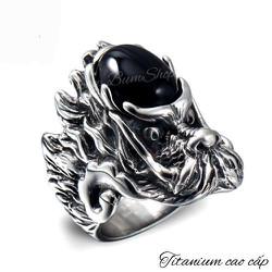 Nhẫn đầu rồng cẩn ngọc đen - chỉ còn size 9