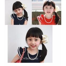 Vòng cổ  thời trang ngọc trai dễ thương cho bé gái