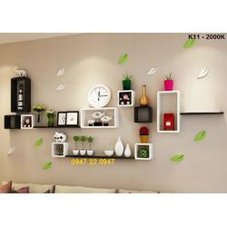 Kệ gỗ treo tường phòng khách giá rẻ K11