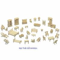 Bộ đồ chơi xếp hình 3D bằng gỗ