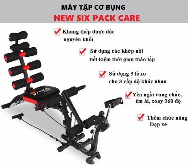 Máy tập cơ bụng New Six Pack Care 2018 có đạp chân 3