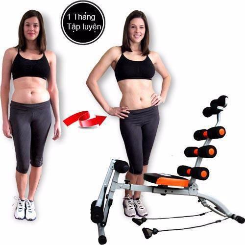Máy tập cơ bụng New Six Pack Care 2018 có đạp chân 4