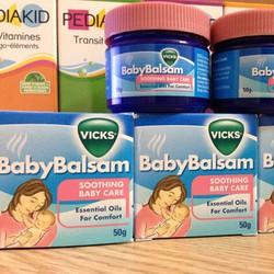 Kem bôi giữ ấm ngực giảm ho Baby Balsam  Vicks