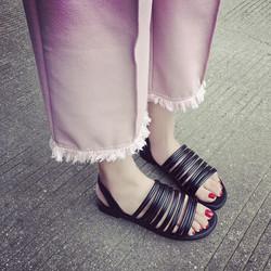 Sale off - size 35 - Giày sandals dây quai ngang SDQN31