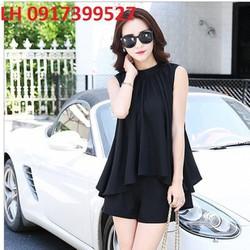 bộ đồ hotgirl culottes thời trang Hàn Quốc mới R162162
