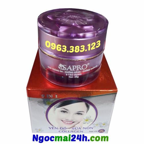 Kem trắng da - Chống nắng - Chống nhăn da 9 tác dụng SAPRO 25g
