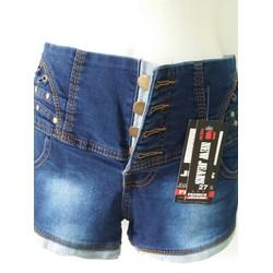 Quần short jean cài nút CX72