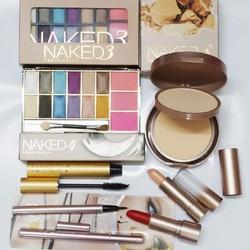 Combo7 trang điểm naked,nền,lót,son,màumắt,má hồng,masscara,kemat103