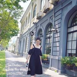 HÀNG NHẬP CAO CẤP - Set bộ áo voan hai dây bèo + Chân váy dập ly