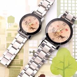 Đồng hồ có mặt họa tiết xe ngựa - 150