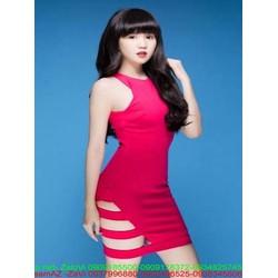 Đầm body cổ yếm khoét đùi xinh đẹp và thời trang DOV750